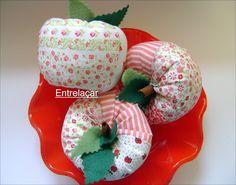Passo a passo: maçã de patchwork! | Artesanato & Humor de Mulher