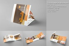 Trifold Interior Brochure by Template Shop on @creativemarket