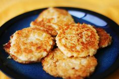vegan breakfast patties?!   garbanzo beans, panko crumbs, brown rice, and some yummy spices. I'll have to try this.