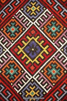 Traditional embroidery, Zakarpattia Oblast, Transcarpathia, Ukraine