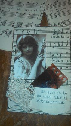Vintage Music Sheet ATC by NutmegKK, via Flickr