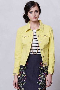 Anthropologie - Pilcro Colored Denim Jacket $29.95