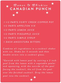 Canadian Punch with Forty Creek Copper Pot + Appleton Estate V/X- it's ...