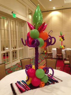 Fiesta Theme Centerpiece Balloons in bright vivid colors