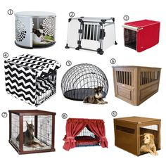 Raise the Woof: Stylish Modern Dog Crates for Small Spaces (for whenever I move somewhere that I'm allowed to have a pup)