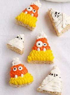 Halloween Rice Krispie Treats | The Bearfoot Baker    #bearfootbaker #edibleart #ricekrispie #treats #delicious #cute #alloccasions #cutetreats