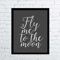 Frank Sinatra Fly me la lune devis impression par CelineArtPrints