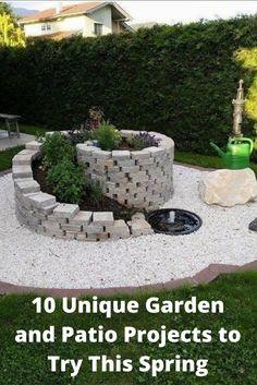 35 Fascinating, Easy-to-Do and Unique DIY Raised Garden Bed Ideas - Alles über den Garten Garden Yard Ideas, Diy Garden, Garden Design, Backyard Decor, Garden Decor, Backyard Landscaping Designs, Diy Raised Garden, Rock Garden, Diy Backyard