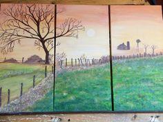 Morning mist painted by Teresa Beard Lowell