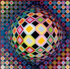 Victor Vasarely (1908-1997) origini ungheresi, illusioni ottiche, riproducibilità dell'opera