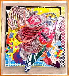 super happy art class: Frank Stella Abstract Art- grade 2