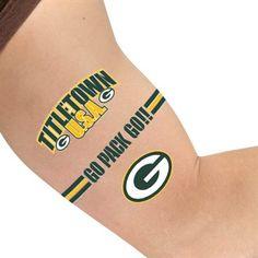 Green Bay Packers Temporary Tattoo Sheet