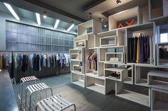Retail store using grey hardwood flooring   Hard wood   Grey   Distressed    Express Flooring   Phoenix, Arizona