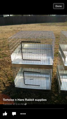 """Tortoise n Hare Rabbit Cages and Supplies. Located In Northeastern Oklahoma - Broken Arrow area.Stacker 2-hole 24""""x24""""x14h"""""""