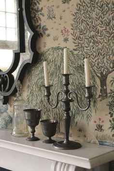 The glorious The Brook wallpaper design by William Morris.