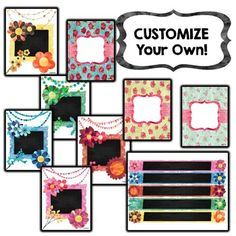"""""""Watercolor Blooms"""" EDITABLE Binder Covers and Spine Labels"""