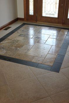 custom entryway tile design.