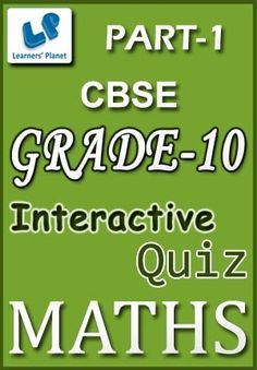 10-CBSE-MATHS-PART-1 Interactive quizzes & worksheets on Application of trigonometry, Arithmetic series, Co-ordinate geometry, Probability and Trigonometry for grade-10 CBSE Maths students. Total Questions : 260+ Pattern of questions : Multiple Choice Questions   PRICE :- RS.61.00