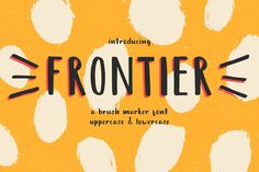 Frontier - a brush marker font. Hi guys! I want to introduce you my font - Frontier.Frontier based on simply and sketchy brush marker lettering. Cool Fonts, New Fonts, Creative Fonts, Pretty Fonts, Beautiful Fonts, Fonts Gratis, Software Android, Corel X7, Best Free Fonts