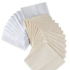 """Provence Dinner Napkins (Set of 12), 100% Cotton    Restaurant quality dinner napkins are a staple at any gathering. Sturdy napkins have a twill weave for durability, yet are incredibly soft. Neutral color coordinates with any dinnerware pattern or occasion. 100% cotton. Each napkin measures 16"""" x 16"""". Machine wash. Imported. Sold in set of 12."""