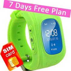 Kids GPS Tracker Smart Watch Phone Children Wrist Bracelet with SIM Card SOS ... #TURNMEON