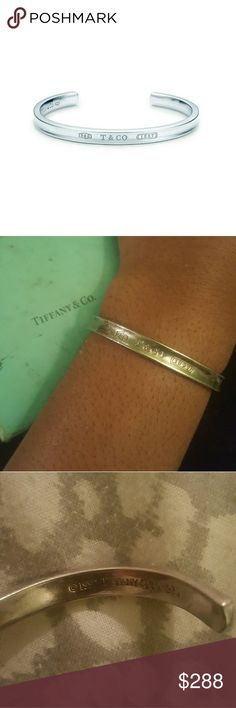 Vintage Tiffany & Co Bangle 1997 Simple elegant Authentic  Tiffany's Silver Bangle  Needs Professional Cleaning for polishing has been cleaned. Tiffany & Co. Jewelry Bracelets