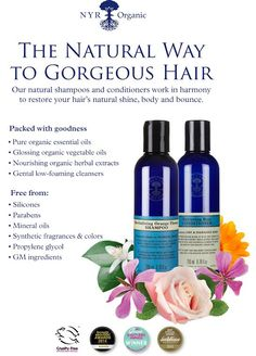 This shampoo and conditioner is the one recommend to be non-toxic. Nurturing Rose Shampoo 6.76 fl.oz