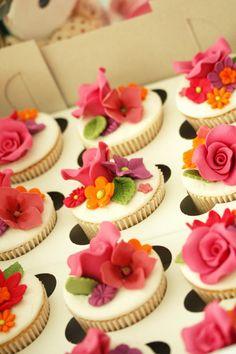A garden on a cupcake