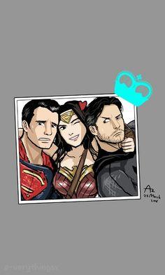 Justice league superman, wonderwoman, batman,