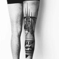Tatuagens inspiradas em Arquitetura