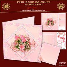 Pink Rose Bouquet - CUP437633_692 | Craftsuprint