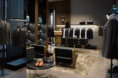 The Caten twins shake up London's Savile Row with a new flagship and design studio Cool Retail, Clothing Store Design, Tailor Shop, Retail Concepts, Store Interiors, Retail Store Design, Fashion Wallpaper, Wallpaper Magazine, Savile Row