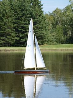 one of dad's pond yachts