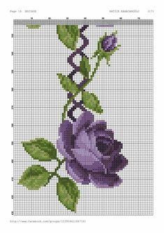 Cross Stitch Borders, Cross Stitch Rose, Cross Stitch Flowers, Cross Stitching, Cross Stitch Embroidery, Cross Stitch Patterns, Crochet Edging Patterns, Fair Isle Pattern, Prayer Rug