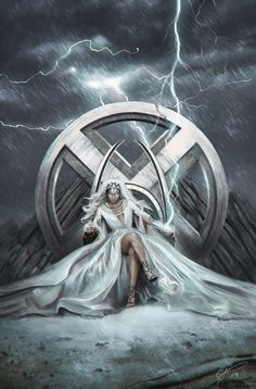 Artwork from the Marvel universe. Storm Comic, Storm Xmen, Storm Marvel, Arte Dc Comics, Marvel Comics Art, Marvel Heroes, Marvel Women, Marvel Girls, Comics Girls
