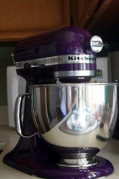 Purple Kitchenaid Mixer :O I must have one! Tiddleywinks and More: My New Purple KitchenAid