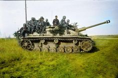 Sturmgeschütz III 40 Ausf. G, somewhere in Russia c. 1943 (Colorised by Tom Thounaojam)
