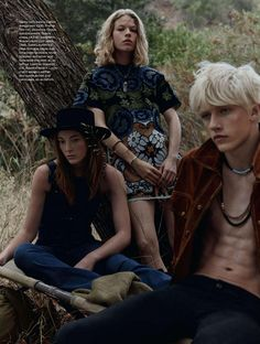 """#LuckyBlueSmith """"Wild, Young, Free"""" for #ElleUK   Vanity Teen"""