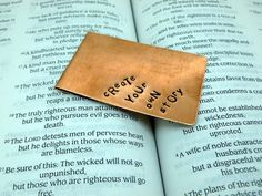 Create Your Own Story - Hand Stamped Metal Bookmark