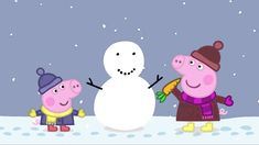 Peppa Pig: Snow. Cartoons for Kids/Children