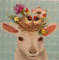 lambie needlepoint, vicki sawyer design, canvas from melissa shirley