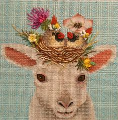 lambie needlepoint, vicki sawyer design, canvas from melissa shirley