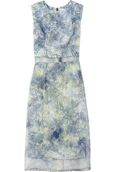 Helena printed silk-organza dress by Erdem