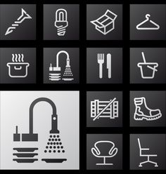 Icon set, signage project - by Raak Grafisch Ontwerp