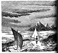 """""""Silloin musiikki vaikeni, ja teltasta tuli ulos Nuuskamuikkunen huuliharppu käpälissään. Hänellä oli sulka vanhassa, vihreässä hatussaan ja pitkä piippu suussaan."""" Muumipeikko ja pyrstötähti"""