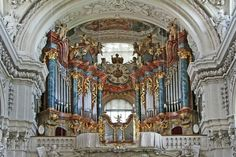 The organ at the Waldsassen Basilica in Germany.