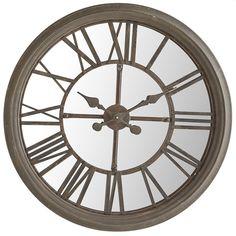Rustic Mirrored Wall Clock