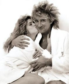 #RodStewart and #RachelHunter by #AndrewEccles