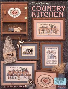 Country Kitchen preview - free cross stitch patterns pinned separately
