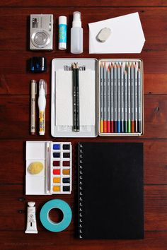 // travel art kit essentials //